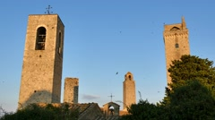 San Gimignano, Siena, Tuscany, Italy Stock Footage