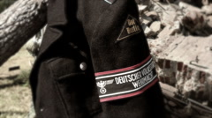 Volkssturm Ost Berlin Jacket and Armband (Stylized) Stock Footage