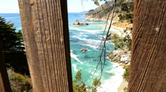 Motion Controlled Dolly Time Lapse of Central California Coastline -Zoom In- - stock footage
