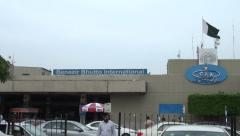 Benazir Bhutto International Airport in Islamabad, Pakistan - stock footage