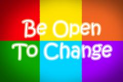 Stock Illustration of be open to change concept
