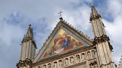 Cathedral in Orvieto, Umbria, Italy (time lapse) Stock Footage