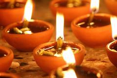 Stock Photo of beautiful diwali diya, diwali oil lamp