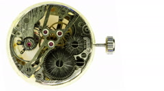 Complex movement of a modern wind-up watch, Full HD, timelapse Stock Footage