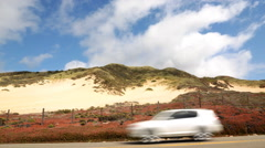 Time Lapse of Cloudscape over Pacific Coast Highway -Zoom In- - stock footage