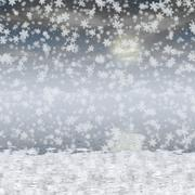 snowy landscape generated hires background - stock illustration
