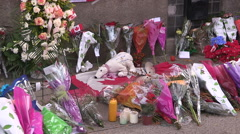 Memorial in Hamilton for fallen Canadian soldier killed in Ottawa Stock Footage