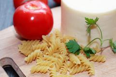 spaghetti ingredients - stock photo