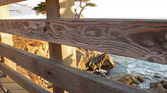 Motion Controlled Dolly Time Lapse of Lone Cypress in Monterey -Tilt Up- Stock Footage