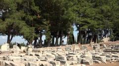 Ephesus Turkey ancient stone work ruins collection HD 034 Stock Footage