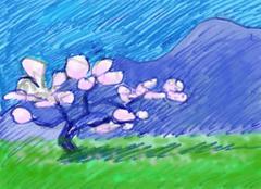 Stock Illustration of almond tree
