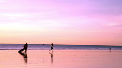 Cable Beach goers Stock Footage