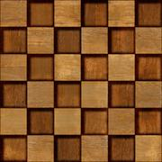 Wooden blocks rosewood stacked for seamless background - stock illustration