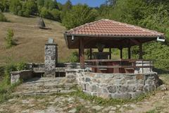 Place for repose in Balkan mountain - stock photo