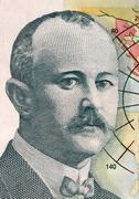jovan cvijic (1965-1927) on 500 dinara 2012 banknote from serbia. serbian geo - stock photo