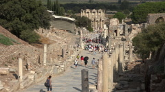 Ephesus Turkey Ancient Roman ruins tourism HD 026 Stock Footage