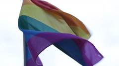 Rainbow Flag Colorful Multi Colored Cologne Gay Lesbian Pride Diversity Festival Stock Footage