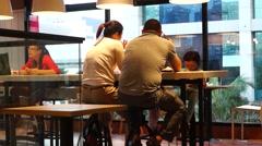Enjoy Food at KFC restaurant Stock Footage