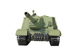 self-propelled artillery - stock photo