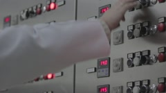 Hardware department - the control unit pannel of process Stock Footage