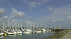 Yachts in the marina of Colijnsplaat Stock Footage