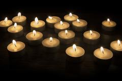 group of tea candles - stock photo