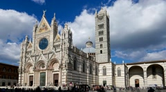 Dome in Siena, Tuscany, Italy (time lapse) Stock Footage