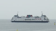 Ferry to the ile of Texel in the harbor of Den Helder Stock Footage