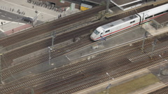 Intercity Express ICE Train Passing Departing Departure Railway Station Cologne Stock Footage