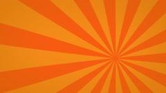 Orange radial spinning motion background seamless loop - stock footage