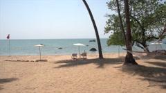 Beach at Cola Goa India Stock Footage