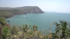 Ocean view of Agonda Beach in Goa India Stock Footage