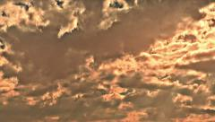 menacing clouds at sunset - stock footage