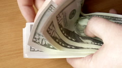 Banknotes dollars Stock Footage
