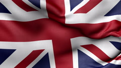 All flags UK - stock footage