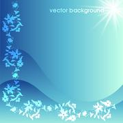 Stock Illustration of floral vector background six
