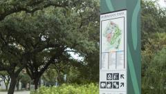 Hermann Park Houston TX Information Stock Footage