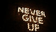 Never Give Up lights Stock Footage
