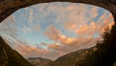 Cerna valley cave sunset time lapse HD Stock Footage