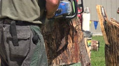 Chainsaw, Wood Cutting Stock Footage