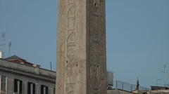 Stock Video Footage of Zoom from hieroglyphs of Lateran Obelisk, Rome 4k