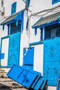 Street in the town of sidi bou said, tunisia Stock Photos