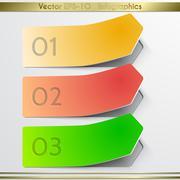 Modern vector arrow  sticker infographics elements. Stock Illustration