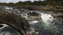 Waterfall and rapids at Great Falls Virginia 3.mp4 Stock Footage