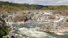Waterfall and rapids at Great Falls Virginia 8.mp4 - stock footage