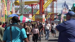 People, Amusement Park, Attendees Stock Footage
