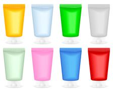 Stock Illustration of cosmetic container set