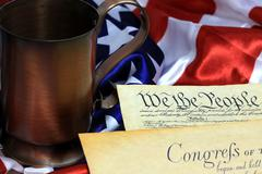 Stock Photo of US Constitution We The People Historical Document