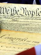 US Constitution We The People Historical Document Stock Photos