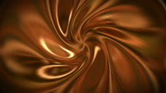 Chocolate golden silky swirl animated in 3D and looping. - stock footage